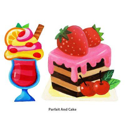 Cool Kids' Wonderland Magnet Fun - Desserts - Parfait and Cake