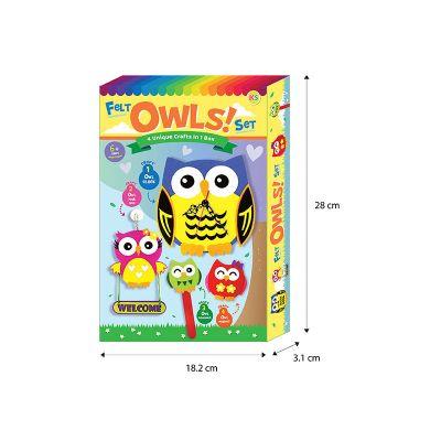 Felt 4-in-1 Owls Box Set - Box Size