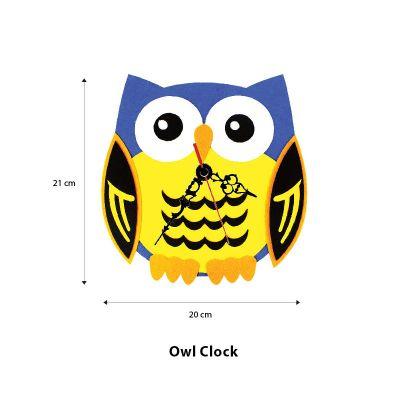 Felt Owl Clock - Size