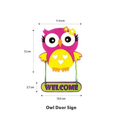 Felt Owl Door Sign - Size