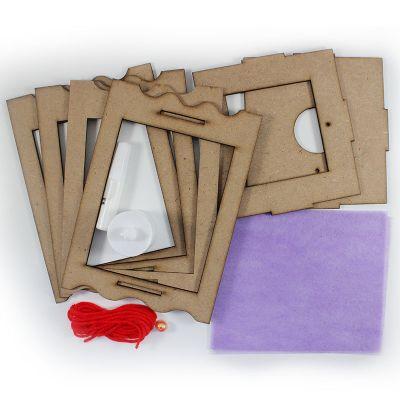 LED Wooden Lantern Kit - Contents
