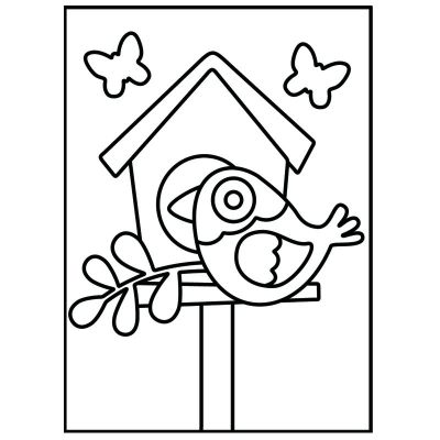 LED Wooden Lantern Kit - Bird