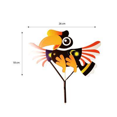 Merdeka Puppet Pack of 10 - Hornbill - Size