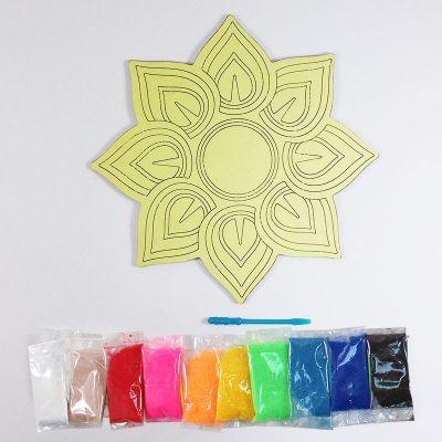 Sand Art Rangoli Board Kit - Content