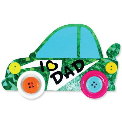 Felt Father's Day Buttons Car Magnet Pack of 5Felt Father's Day Buttons Car Magnet Pack of 5