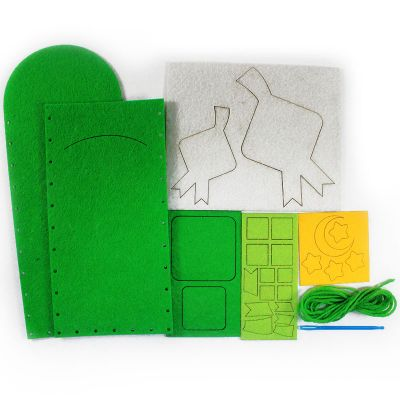 Felt Raya Money Packet Pack of 10 - ContentsFelt Raya Money Packet - Ketupat