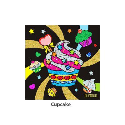 Foil Art - Cupcake