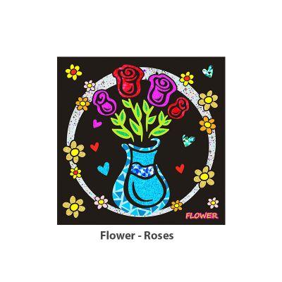 Foil Art - Flower - Roses