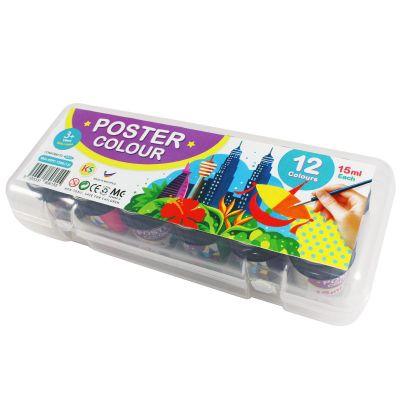 KS Poster Colour Set - 12 x 15ml Assorted Colours