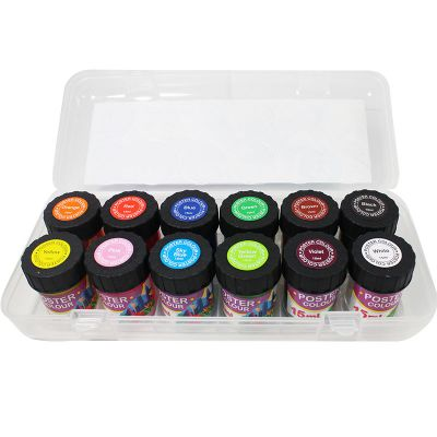 KS Poster Colour Set - 12 x 15ml Assorted Colours