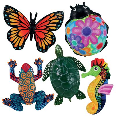 3D Animal Paper Mache Painting Kit - Turtle / Seahorse / Butterfly / Ladybird / Frog