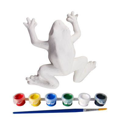 3D Animal Paper Mache Painting Kit - Frog - Contents