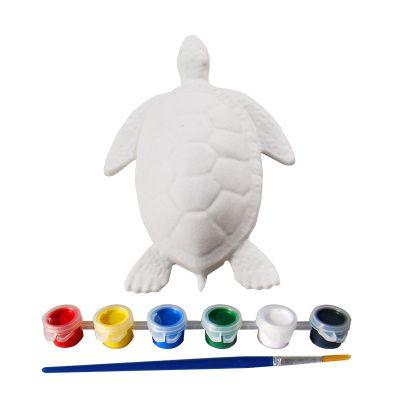 3D Animal Paper Mache Painting Kit - Sea Turtle - Contents