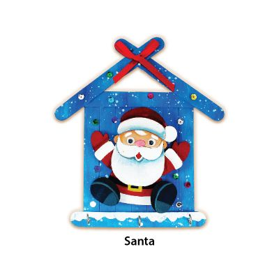 Christmas Key Hanger Kit - Santa