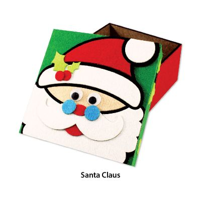 Felt Christmas Gift Box - Santa Claus