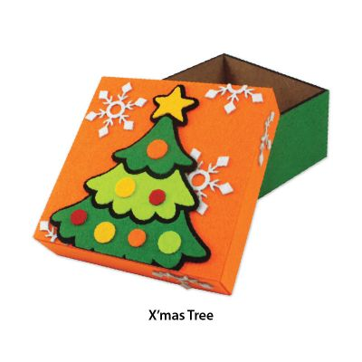 Felt Christmas Gift Box - Christmas Tree