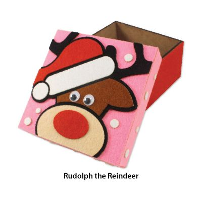 Felt Christmas Gift Box - Rudolph the Reindeer