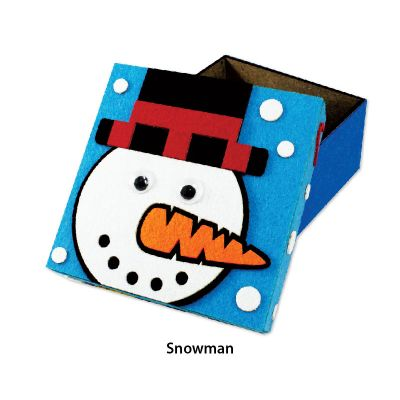 Felt Christmas Gift Box - Snowman