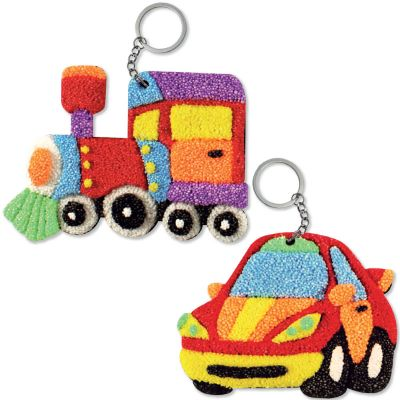 Foam Clay 2-in-1 Transport Keychain Kit - Train and Car