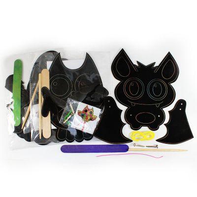 Scratch Art Halloween Puppet - Contents