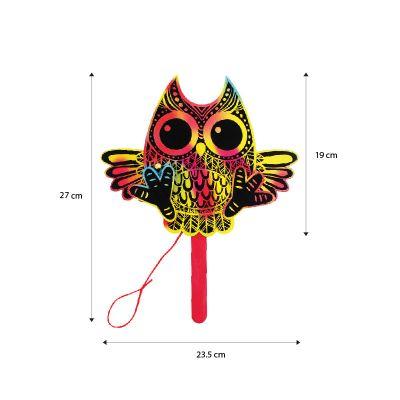 Scratch Art Halloween Puppet - Size