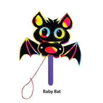 Scratch Art Halloween Puppet - Baby Bat
