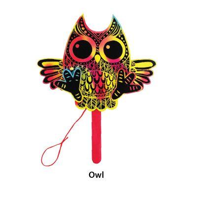 Scratch Art Halloween Puppet - Owl