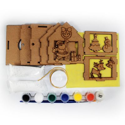 Christmas House Lantern Kit - Contents