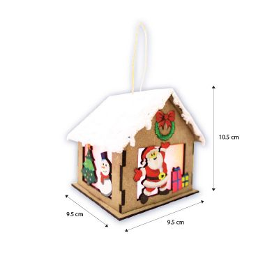 Christmas House Lantern Kit - Size