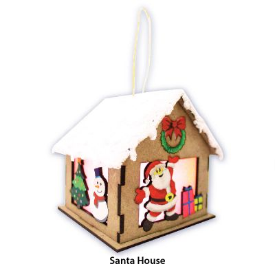 Christmas House Lantern Kit - SantaChristmas House Lantern Kit - Contents