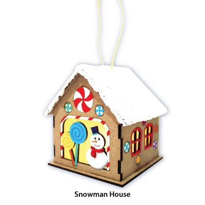 Christmas House Lantern Kit - Snowman