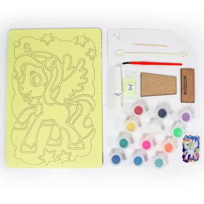 Glow-In-The-Dark Sand Art Display Stand Kit - Contents