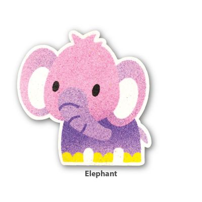 5-in-1 Sand Art Animal Board - Elephant