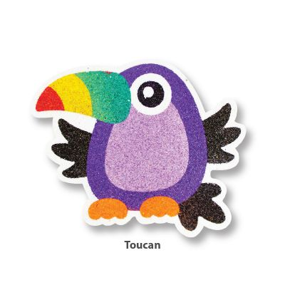 5-in-1 Sand Art Bird Board - Toucan