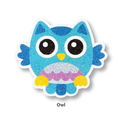 5-in-1 Sand Art Bird Board - Owl
