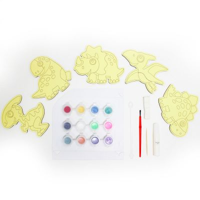 5-in-1 Sand Art Dino Board Kit - Contents
