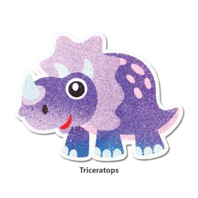5-in-1 Sand Art Dino Board - Triceratops