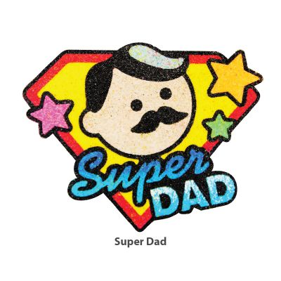 5-in-1 Sand Art Father's Day Board - Super Dad