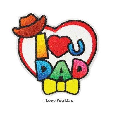 5-in-1 Sand Art Father's Day Board - I Love U Dad