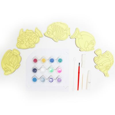 5-in-1 Sand Art Fish Board Kit - Contents