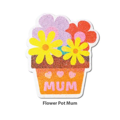 5-in-1 Sand Art Mother's Day Board - Flower Pot Mum5-in-1 Sand Art Mother's Day Board - Loose