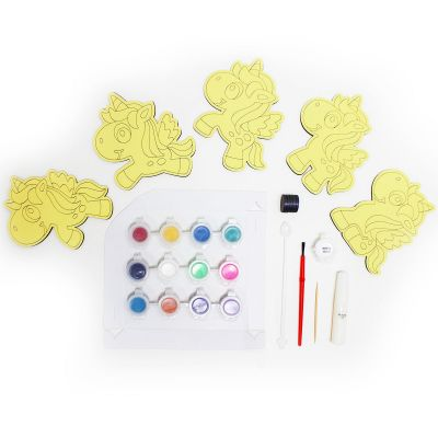 5-in-1 Unicorn Sand Art Magnet Kit - Contents