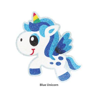 5-in-1 Unicorn Sand Art Magnet - Blue Unicorn