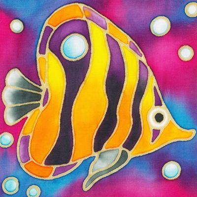 Batik Painting Malaysia - Angelfish Batik