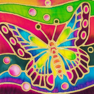 Batik Painting Malaysia - Butterfly Batik