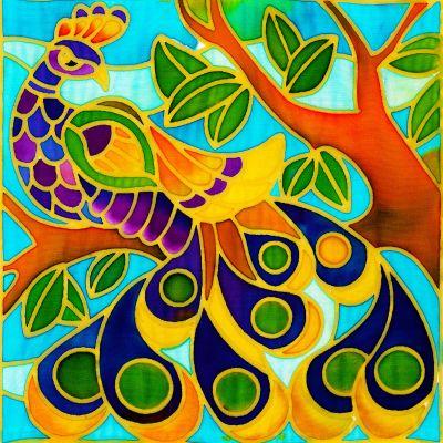 Batik Painting Malaysia - Peacock Batik