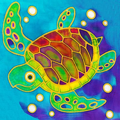 Batik Painting - Sea Turtle