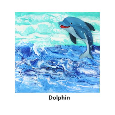 Canvas Pouring Art Box Set - Dolphin