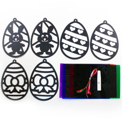 Stained Glass Easter Egg Window Deco Kit - Contents