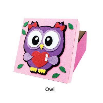 Felt Animal Gift Box - Owl